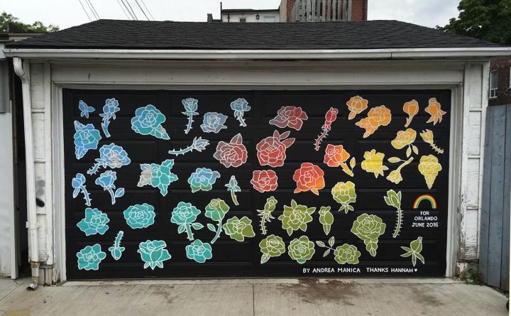 2016, Orlando mural, outdoor acrylic